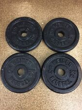 Weider Barbell 4 - 5 LB Standard Weight Plates Vintage 20 Lbs Total Weight