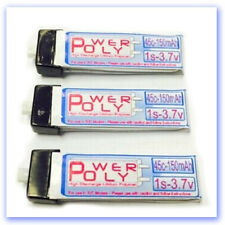 1S-150-45C PolyPower LiPo 3 Pack