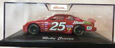 SIGNED #25 Ricky Craven AUTOGRAPHED 1:24 DieCast NASCAR COA BUD Louie The Lizard