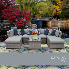 Catalina 7 Piece Outdoor Wicker Patio Furniture Set 07a