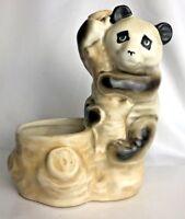 Vintage Old Panda Bear Ceramic Planter Marked Japan