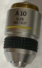 Olympus A 10x 0.25 160 017 Microscope Objective Ch Ch2 Medical Science Optics