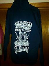 Veterans Military Hooded Sweatshirt Unisex Size XL Black FREE SHIPPING!