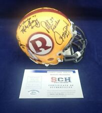70 GREATEST Redskins Signed Auth Mini Helmet W/13 Autographs SCH #29248 Auth