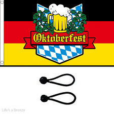 Oktoberfest Flag 5 x 3Ft Flag Poles Or Windsocks Poles.Comes with Free Ball Ties