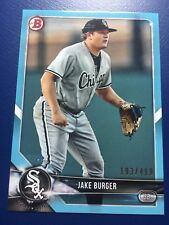 JAKE BURGER 2018 Bowman CARD #BP37 BLUE PAPER #D 193/499