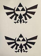 "2x  5.5"" Zelda Triforce of Hyrule Vinyl Car Window Decal Nintendo Link Sticker"