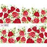 Nagelsticker Nail Art Tattoo Aufkleber Rosa Blumen Muster #1602