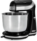 Electric Mixer 3 qt Stainless Steel Mixing Bowl Dough Hooks and Mixer Beaters photo