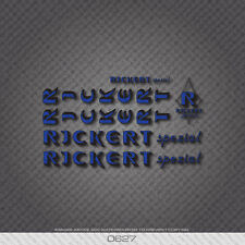 0627 Rickert Bicycle Stickers - Decals - Transfers