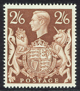 🌟 GB KGVI SG476 - 2s6d BROWN - 1939 HIGH VALUE - MNH UNMOUNTED MINT - Sc #249