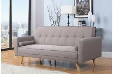 Large Stylish Grey Fabric Contemporary Sofa Bed