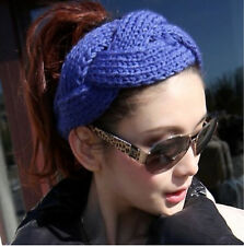 sapphire  Women twist Soft Hairband Crochet Hair Band Knit Wide Headband