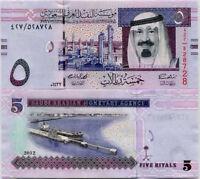 SAUDI ARABIA 5 RIYALS 2012 P 32 UNC LOT 5 PCS