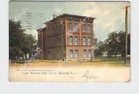 PPC POSTCARD NEW JERSEY BAYONNE HIGH SCHOOL EXTERIOR UNDIVIDED BACK ROTOGRAPH