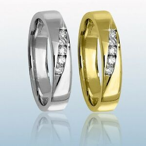 9ct White or 9ct Yellow Gold Diamond set Wedding Ring