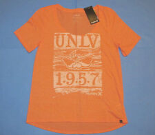 NWT Hurley UNLV 1957 Hey Reb! Scoop Neck T-Shirt  Women Sz S Peach Runnin Rebels