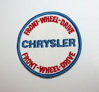 2 Vintage Chrysler Motors Certified Car Care Cloth Service Patch New NOS 1960s