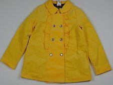 Gymboree Bright Owl Gem Button Yellow Velvet Corduroy Coat Jacket 10 12 Large