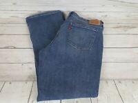 Levi's 505 Straight Leg Blue Wash Stretch Waist Women Jeans Size 32
