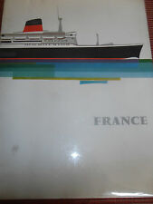 LIVRE - PLAQUETTE POUR LE LANCEMENT DU PAQUEBOT LE FRANCE ( ref 40 )