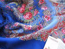 Women's scarf PURE Natural 100% Merino Wool 1381-13 Romance Pavlovo Posad Shawl