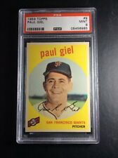 1959 Topps #9 Paul Giel San Francisco Giants PSA 9