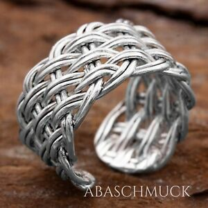Silberring Silber 925 Ring  Verstellbar Offen R0872 Zopfring Keltisch Celtic