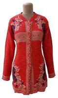 Winter Knitted Designer Cardigan Jumper Size 10 12 14 S54