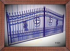 On Sale! Inc Post Pkg Driveway Gate 14' Wd Steel Yard Home Improvement Security
