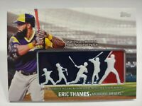 2018 Topps Eric Thames MLB Players Weekend Commemorative Patch Milwaukee Brewers