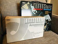 NEW NEC PC-Engine TURBOGRAFX PAL EU + Game (inside) + Accessories NEW UNUSED