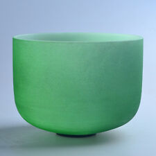 "8"" F Heart Green Wholesale Chakra Crystal Quartz Singing Bowl Heal Stone"