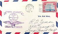 .SCARCE 1928 ATLANTA - MIAMI FIRST FLIGHT CACHET COVER AIR MAIL.