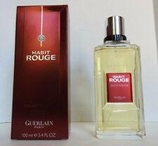 Guerlain Habit Rouge Eau de Toilette Spray for Men 100ml 3.3fl.oz FULL IN BOX