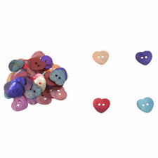 50 x 15 mm Pearl Mussels Heart Buttons TOP SS