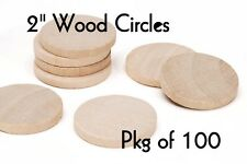 LOT of 100 ~ 2 inch Wood Circle ~ Craft Disk ~ Pendants & Magnets ~ by  ~ by PLD