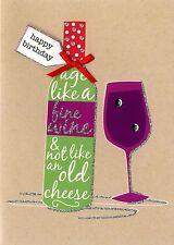 Buon Compleanno biglietto d'auguri buon vino secondo natura Yours Truly carte