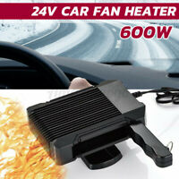 2 in 1 600W 24V Car Electric Heater Fan Dryer Quick Heating Demister Defroster