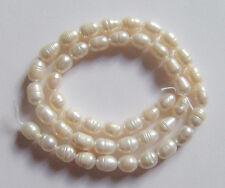 1filo /36cm perle bianche coltivate acqua dolce 6-7mm