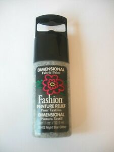 Plaid Dimensional Fabric Paint- Great for Embellishing Night Star Glitter    NEW