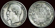 FRANCE 50 centimes 1859A silver Napoléon III