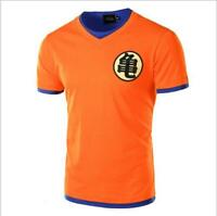New Japanese Anime Son Goku Dragon Ball Z Orange Costume Short Sleeve T-shirt