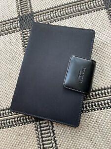 New Vintage Kate Spade Black Nylon w/Leather Interior Planner Organizer Not Used
