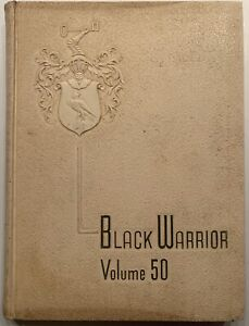 1961 TUSCALOOSA HIGH SCHOOL YEARBOOK, THE BLACK WARRIOR, TUSCALOOSA, AL