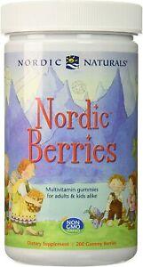 NORDIC NATURALS Nordic Berries Multivitamin, 200 Gummy Berries FREE SHIPPING