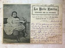 Circus Sideshow Big Girl La Belle Emilia Original  Vintage Postcard