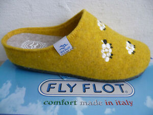 Fly Flot Slippers House Shoes Clogs Yellow New