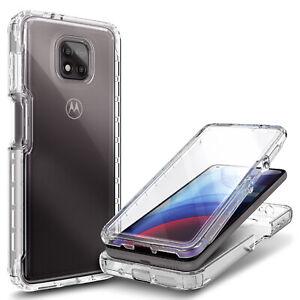 For Motorola Moto G Power (2021) Case Full Body Cover +Built-In Screen Protector
