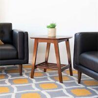 Mid-Century Modern Jean Brown Walnut Wood End Table
